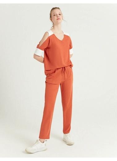 BGN Kiremit - Kontrastlı Bluz Kiremit